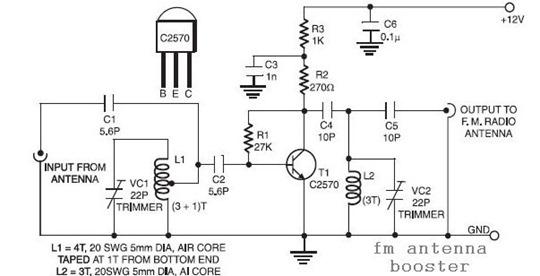 construye un amplificador para tu antena fm