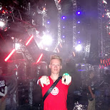 at the front stage VIP at Ultra Japan 2015 in Tokyo, Tokyo, Japan