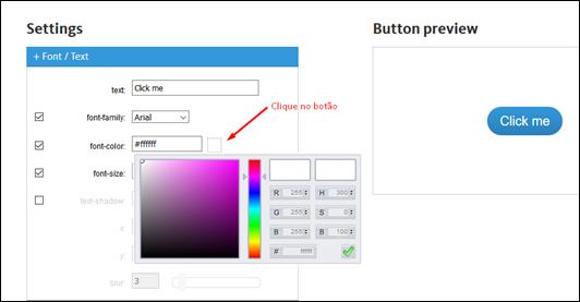 Gerador de botões em CSS gratuito - Visual Dicas
