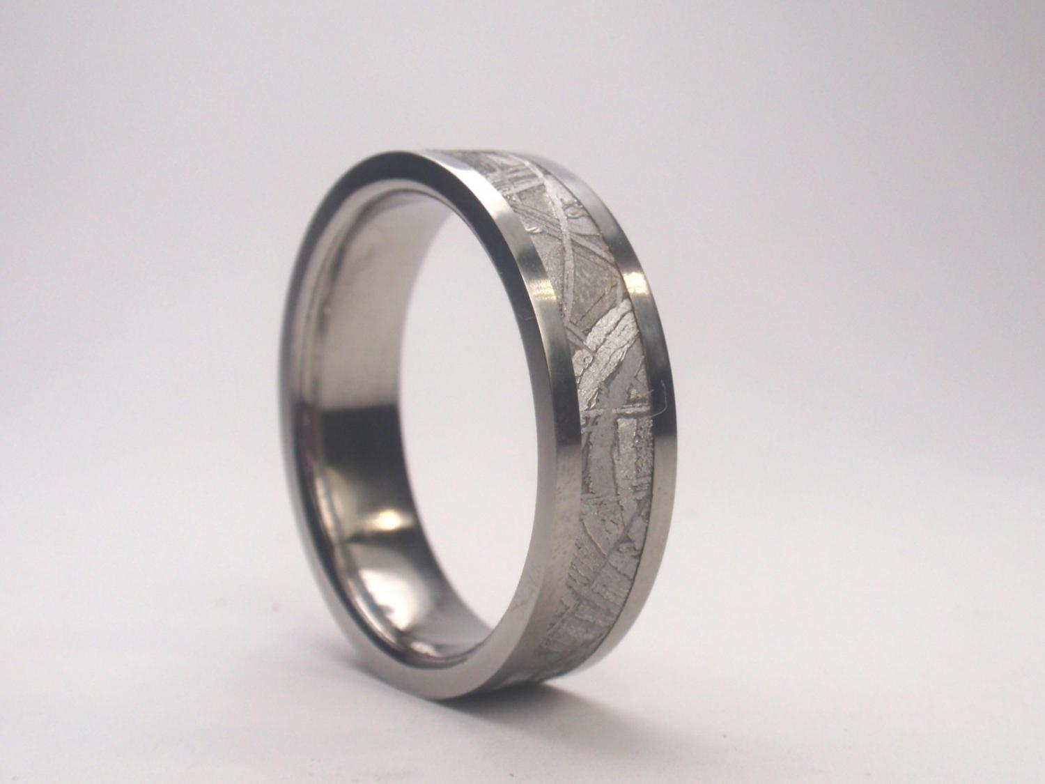Mens Titanium Wedding Band - 4