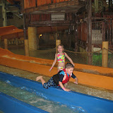 Logan Vojtko and Hannah going down a water slide at Kalahari in OH 02182012b