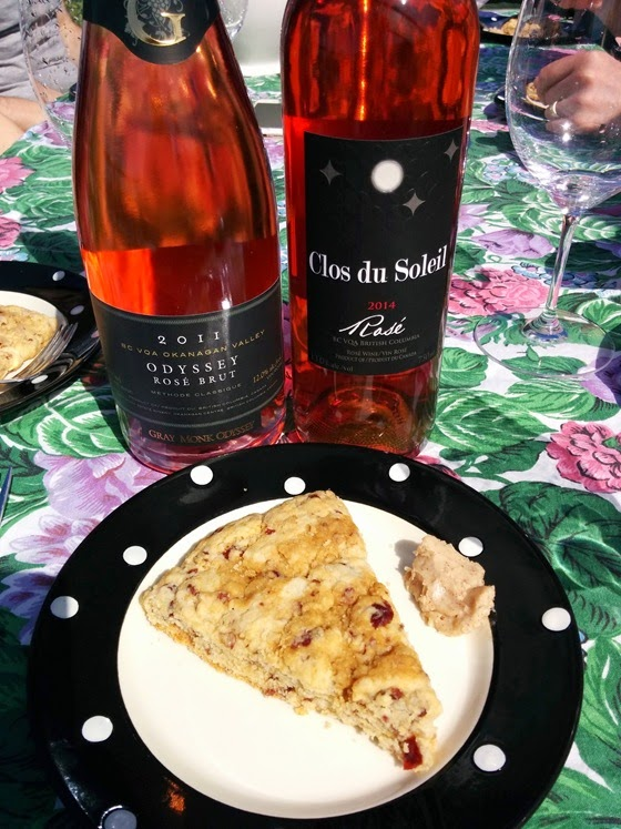 Gray Monk Rose Brut & Clos du Soleil Rose with Cranberry Orange Scones