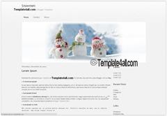 зимняя тема blogspot
