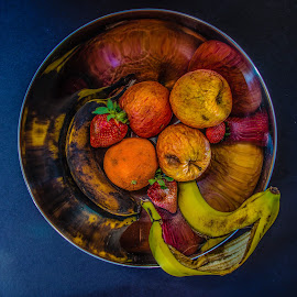 Cornucopia A.D. MMXV by Eva Kamienska-Carter - Food & Drink Fruits & Vegetables ( reflection, fruit, rotten, rot, food, bad, welcome, reflect, skin, decay )