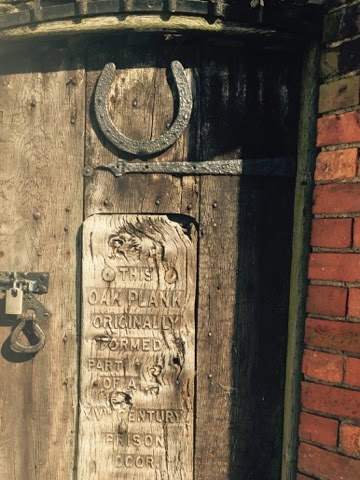 Oak plank from 15th century prison door, Rye