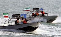 Iranian Pasdaran terrorists in speedboats in the Gulf