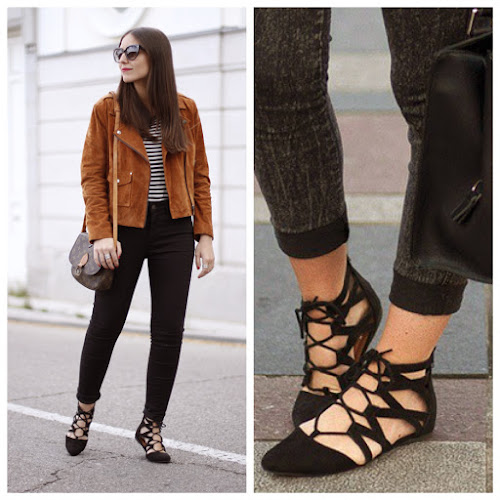Primark lace up flats