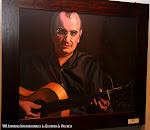 "Javier Mompó. ""Rubén Parejo tocando una Guitarra Romántica"". Óleo sobre lienzo"