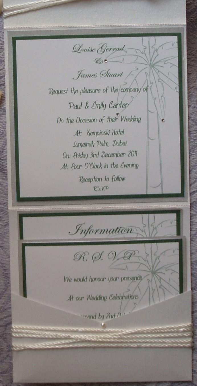 Fold Wedding Invitations