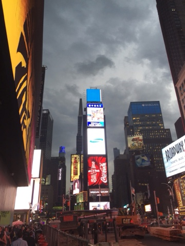 Storm in Times Square: Mother Nature upstages the neon