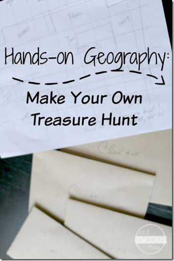 Geography Games - Make your own treasure hunt! This is such a fun kids activities for Kindergarten, 1st grade, 2nd grade, 3rd grade, 4th grade, and more! (homeschool, geography)