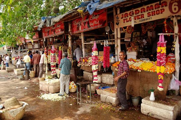 цветы рынок базар индия