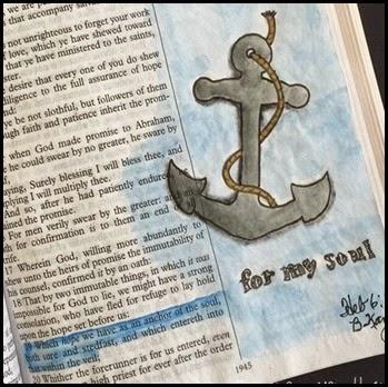 Hope an Anchor Bible Art Journaling Heb 6-19