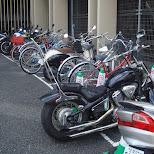 bikes and bicycles in yokohama in Yokohama, Tokyo, Japan
