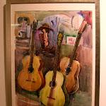 'Guitarras en reposo' de Mila Ramón. Acuarela