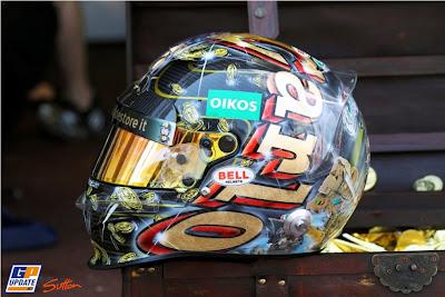 пиратский шлем Витантонио Льюцци специально для Гран-при Монако 2011 вид слева