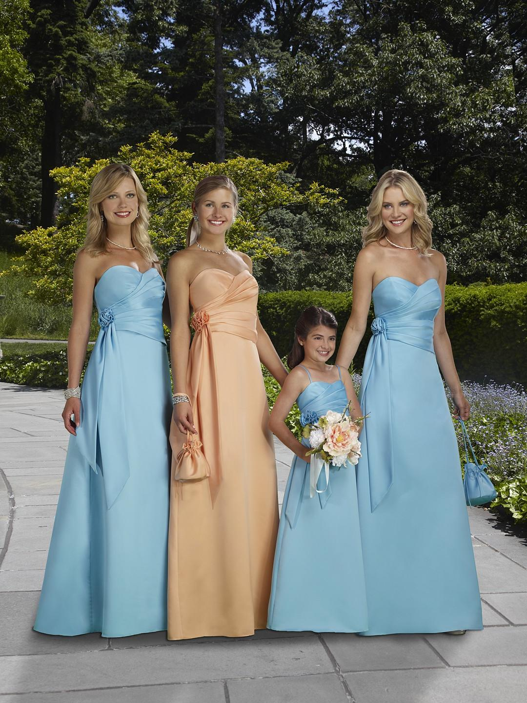 2012 Blue Bridesmaid Dresses