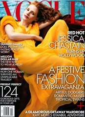 Jessica Chastain Vogue December 2013 Flami ng June Leighton 1