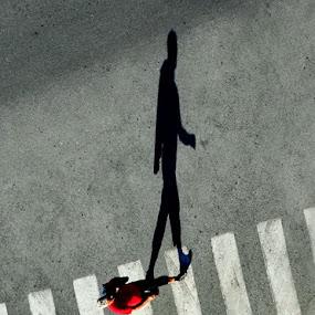Walker by Zoran Nikolic - People Portraits of Men ( shadow )
