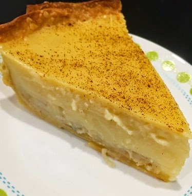 Easy banana custard pie - slice