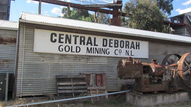 The Central Deborah Mine, in operation through the early 1950s, is now a tourist attraction in Bendigo.