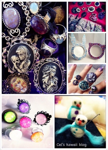 gothic kawaii decoden bling and cameos