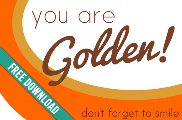Girls Camp Pillow Treat Handout: 'Golden' Goldfish