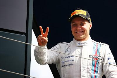 второй подиум в сезоне от Вальтери Боттаса на Гран-при Великобритании 2014