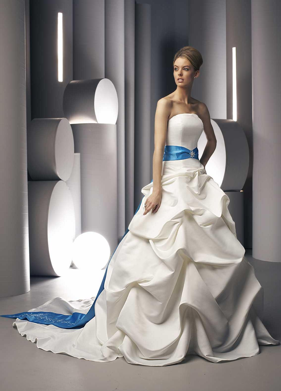 Pleated Satin Ball Gown