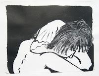 Dej BAO. 039 . Un Chemin dans la Pierre . 1977 . Lithographie . 36,5 x 55 cm
