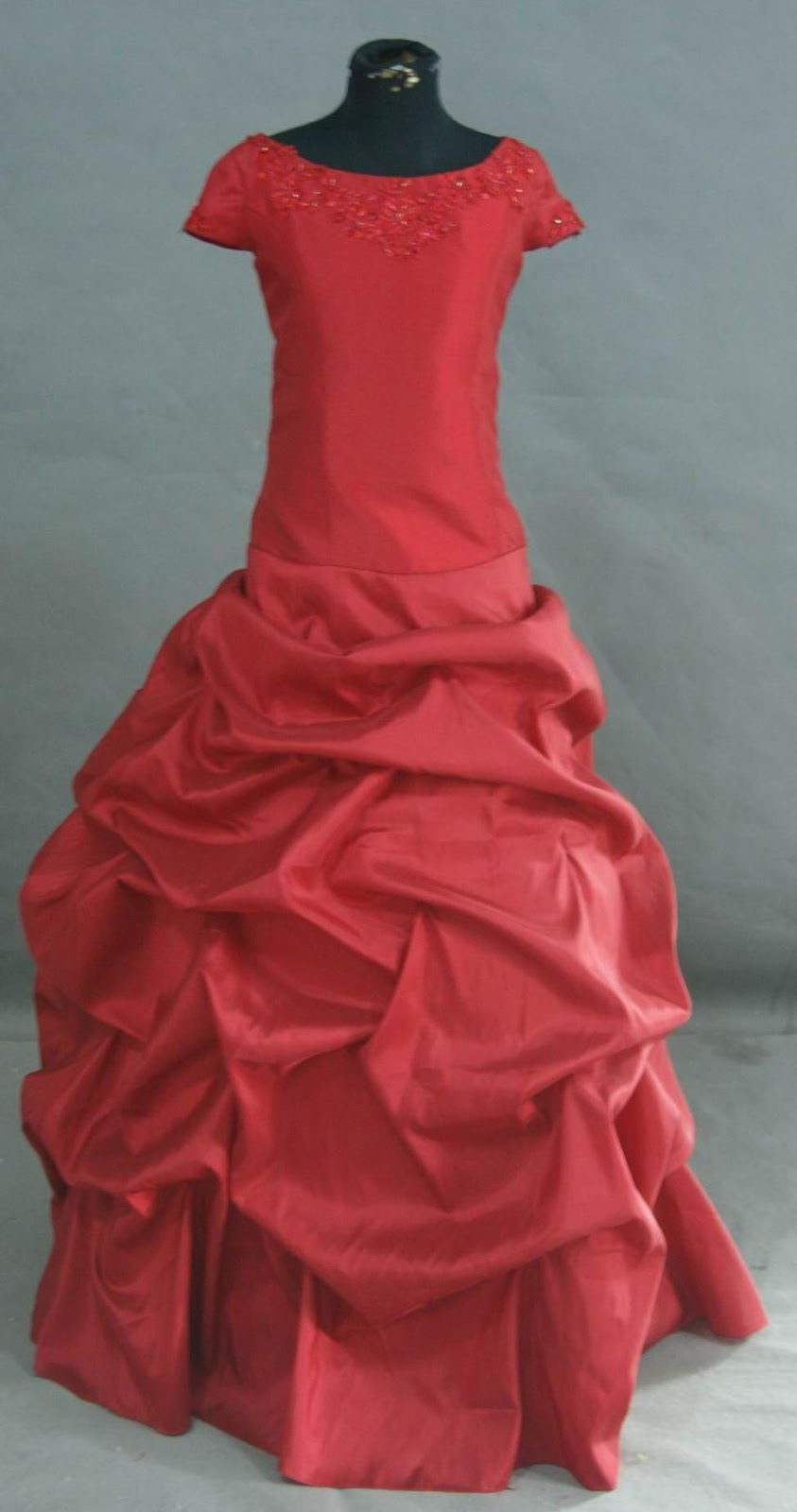 apple red childrens ball gown