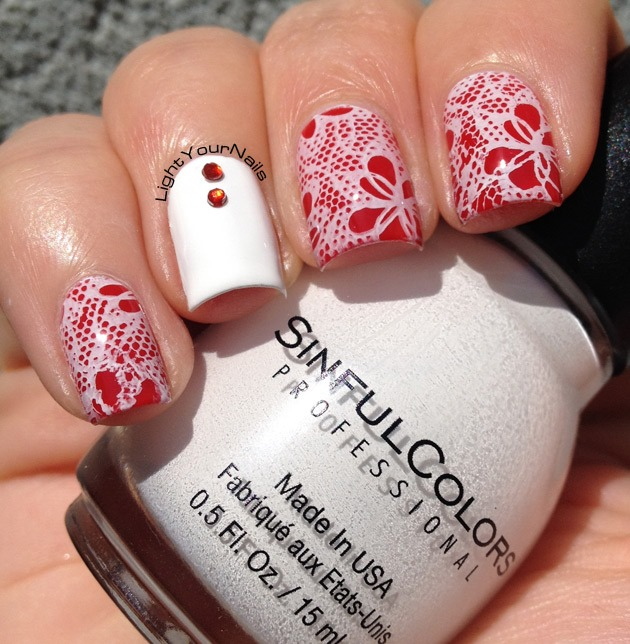 White and red stamping with plate BP-L020