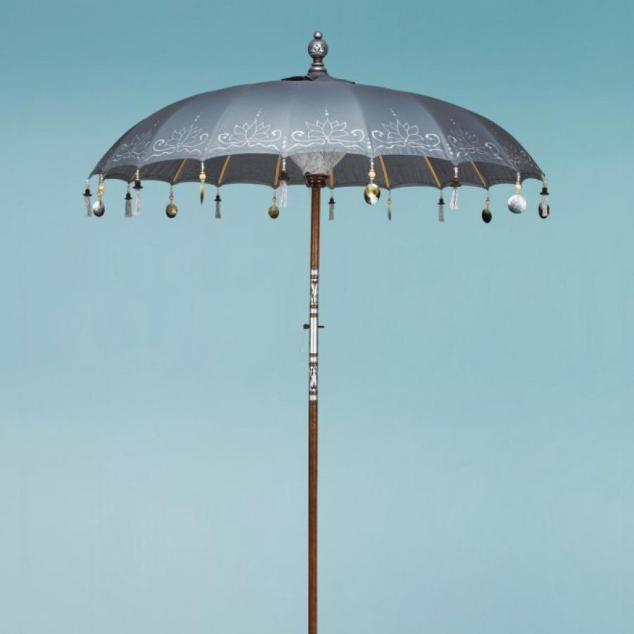 Silver gray garden umbrella
