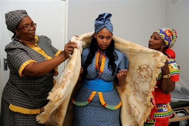 Traditional wedding dresses tswana pictures