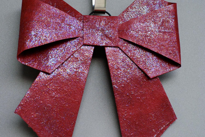 Holiday Bow- Origami Holiday