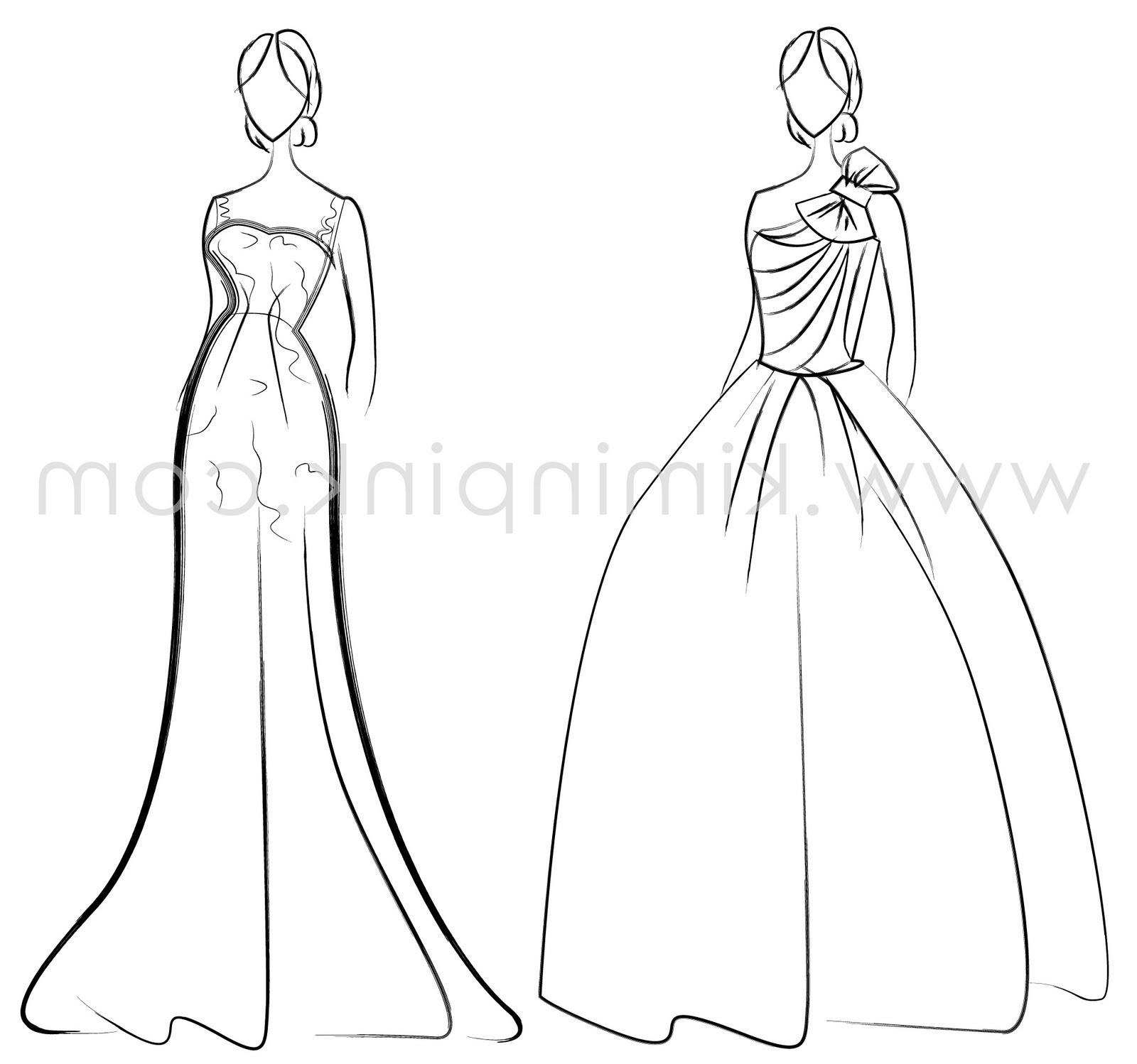my wedding gown illustration