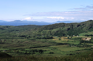 Mountain View from Connemara National Park, Southern Ireland.