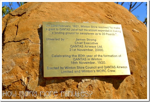 Qantas Cairn in Winton | How Many More Minutes?