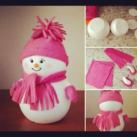 Boneco de Neve com isopor