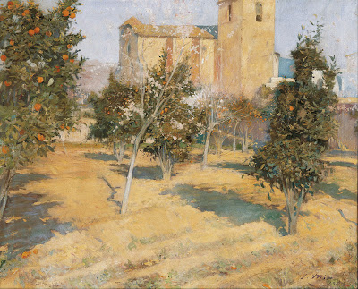 Joaquim Mir - The Rector's Orchard (1896)