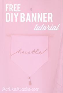 DIY, do it yourself, banner, tutorial, DIY banner, Free Tutorial, DIY tutorials, Home Decor