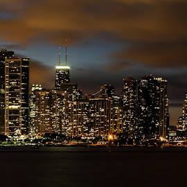 Chicago Skyline by Venkatauday Bommisetty - City,  Street & Park  Skylines ( chicago skyline )