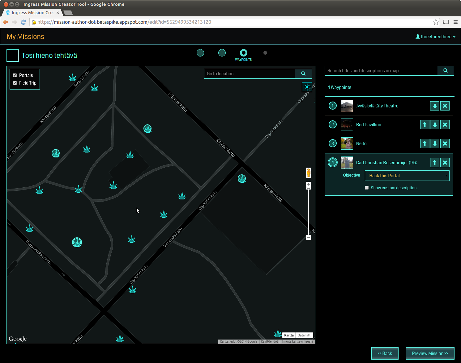 kartta jyväskylä google Ingress mission editor looks like this. The odd thing is, you can  kartta jyväskylä google
