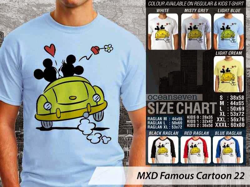 KAOS Mickey Mouse 22 Kartun Lucu distro ocean seven