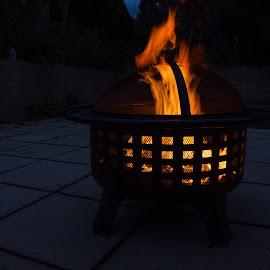 Fire by Calum Russell - Abstract Fire & Fireworks ( warm, australia, night, bbq, fire )