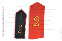 Old and new shoulder straps from Pom.Pion. Batl. Nr. 2
