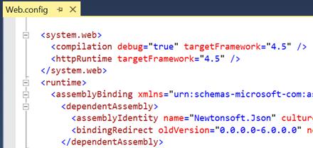 Compilation debug en Web.config
