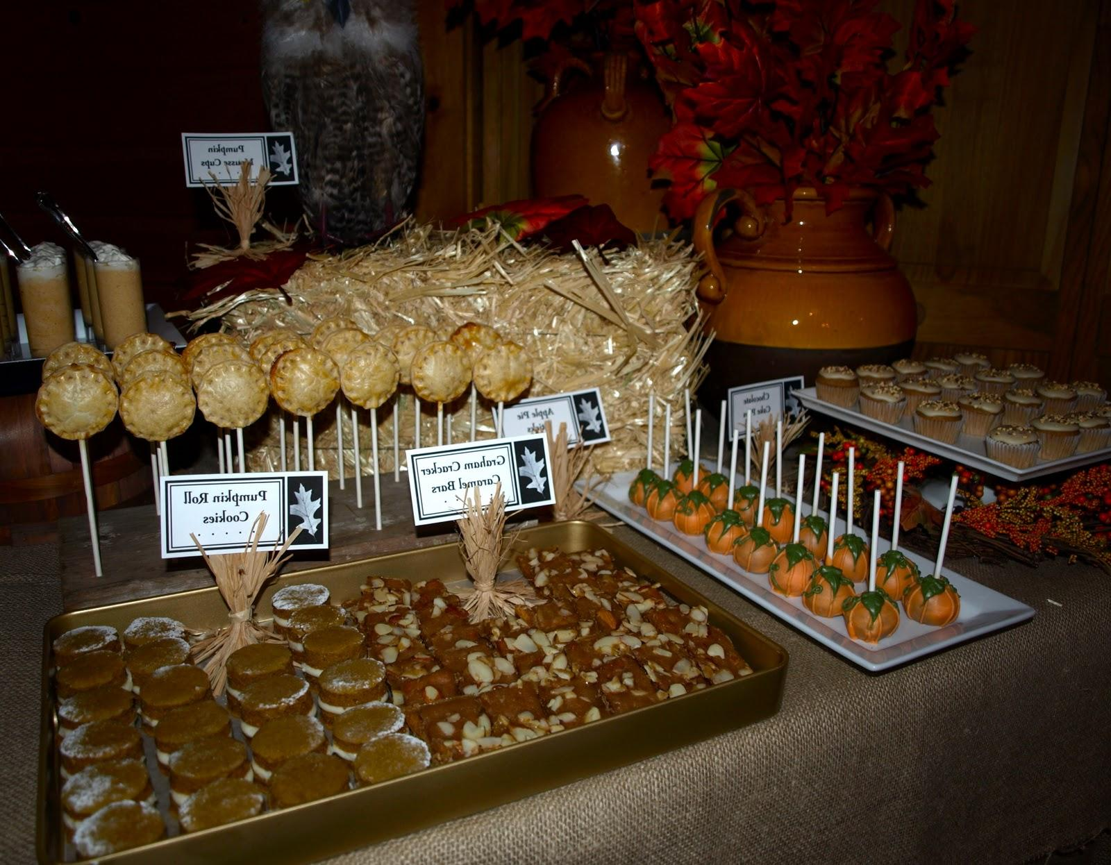 fall festival dessert table