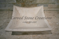 16x16xH6 New Crema Marfil Light Limestone Cozumel Square Sink