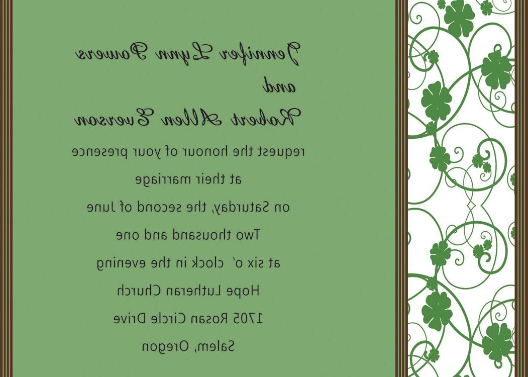 wedding invitations INT072
